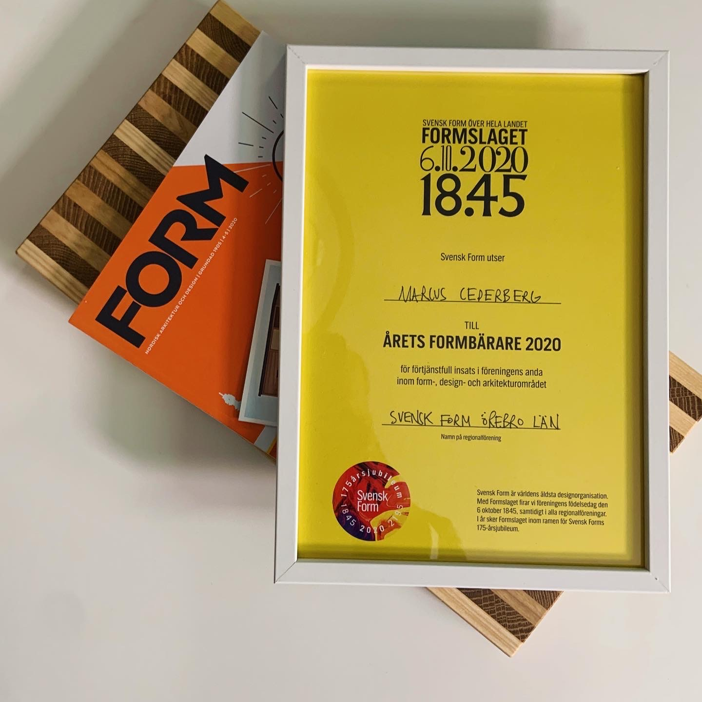 Design prize from Swedish Design Association